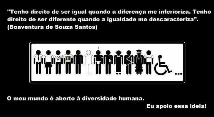 Boaventura de Souza Santos: direito à igualdade e à diversidade.