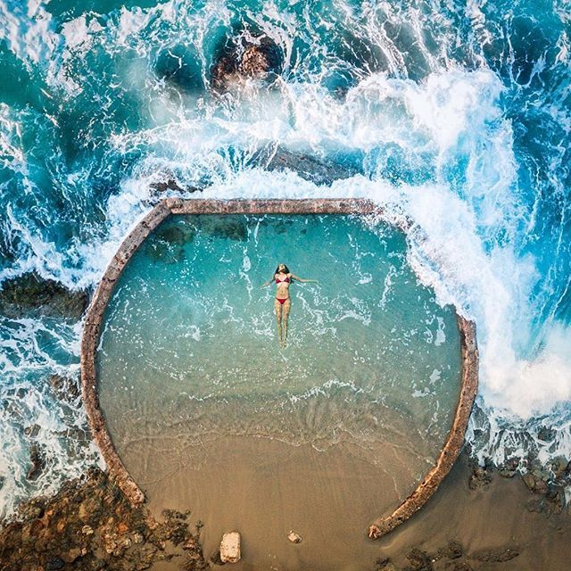 One of the most secretive and must visit places in laguna beach natural tide pool this one is for Natural swimming pools los angeles