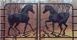 Wrought Iron Gate Art Horses Google Search Med Billeder Dor
