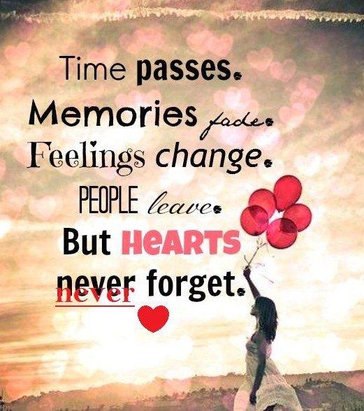 Time Passes Memories Fade Feelings Change People LeaveBut Delectable Feelings Of Past Memories Dp
