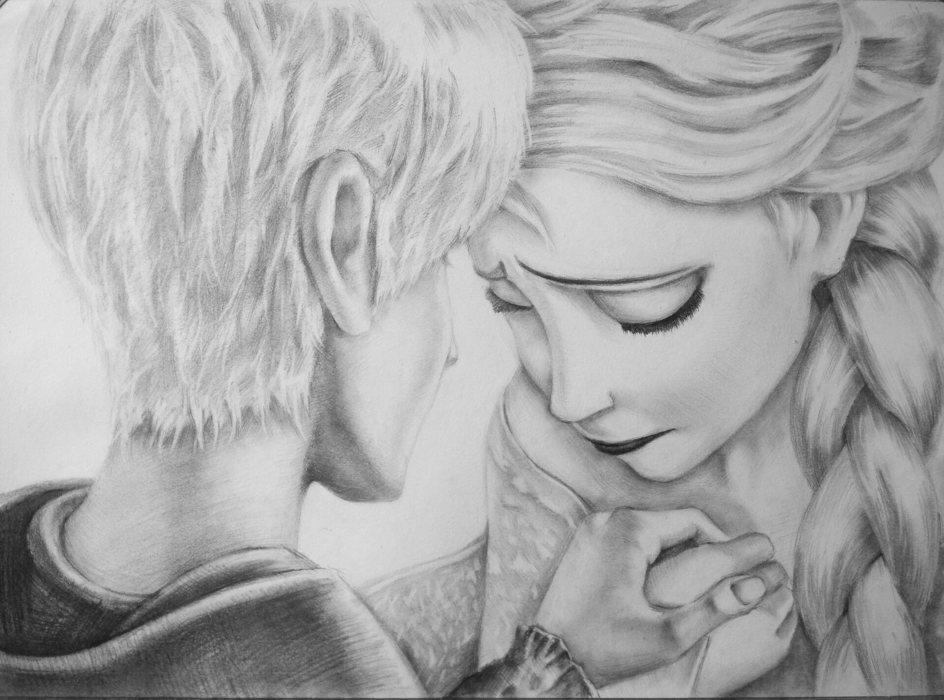 Jack Frost And Elsa By Simac Nerbopencil Drawing Hand Drawn Jack Frost And Elsa Jack Frost Jack Frost Drawing