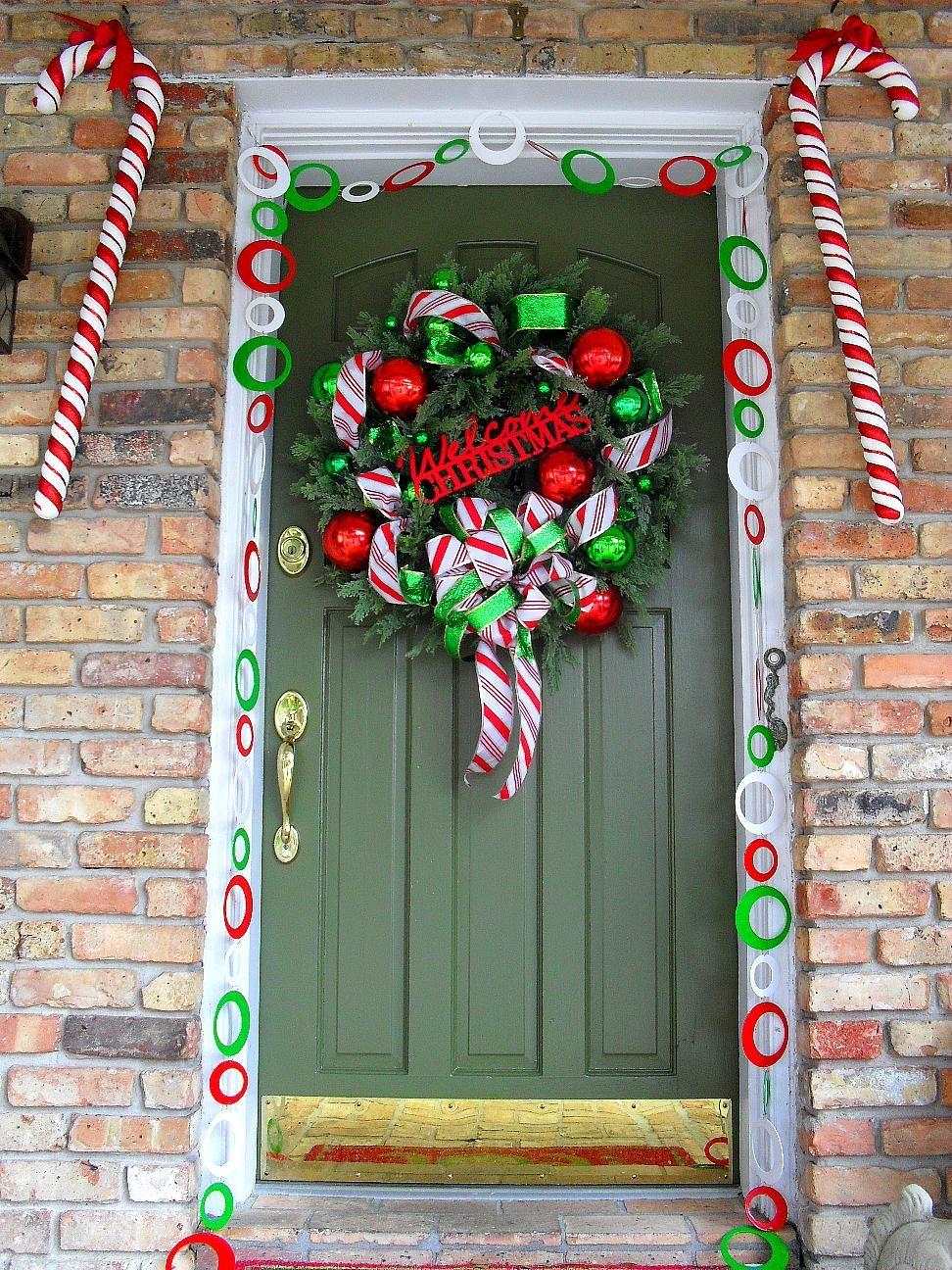 Welcome To Candy Cane Lane Christmas Door Decor Idea | CHRISTMAS ...