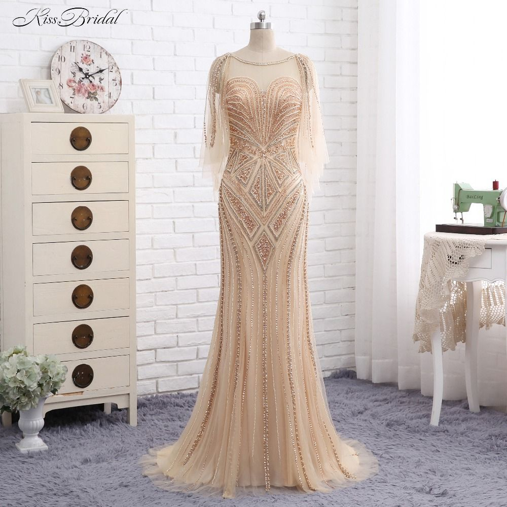 New long prom dresses one shoulder single long sleeves floor
