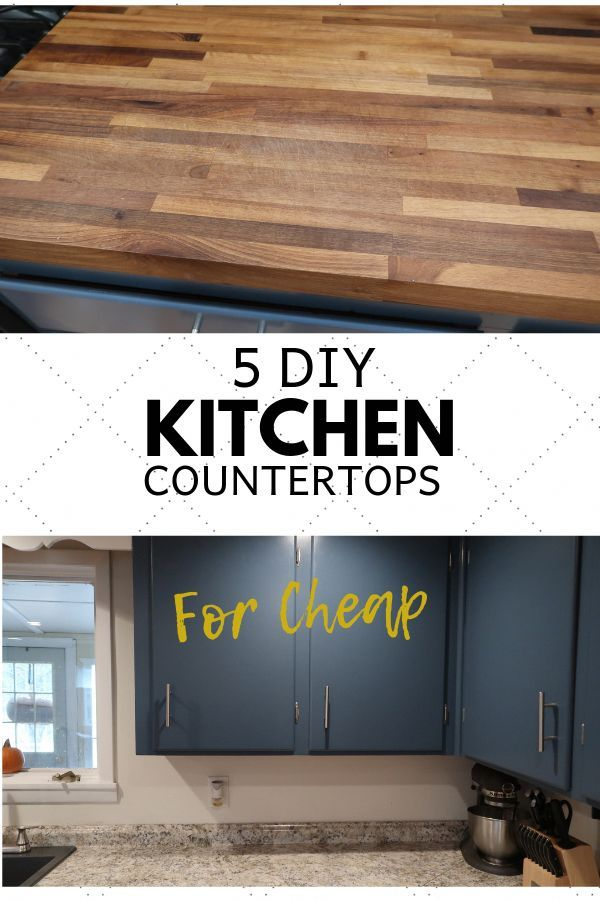 5 DIY Ways to Get New Countertops for Cheap - Kitchen diy makeover, Diy kitchen remodel, Diy kitchen countertops, Diy kitchen renovation, Replacing kitchen countertops, Kitchen remodel countertops - Is it time to update your kitchen  If you do it in phases you can save a ton of money  Your first project could be updating your kitchen countertops  This is a simple fix and