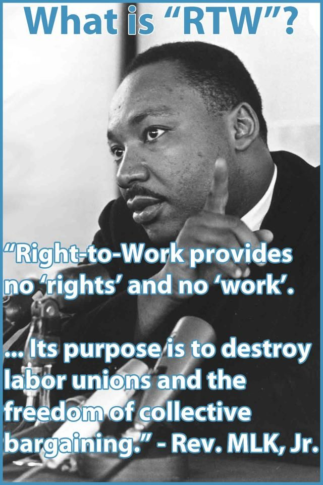 MLK on Right to Work