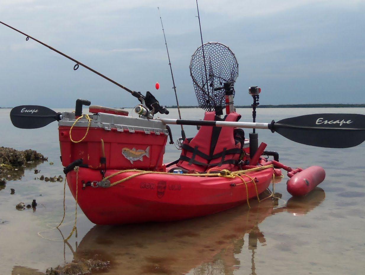 Poor man 39 s fishing kayak rigging update 2014 fishing for Kayak accessories for fishing