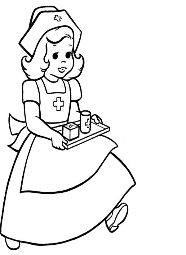 Careful Nurse Coloring Pages
