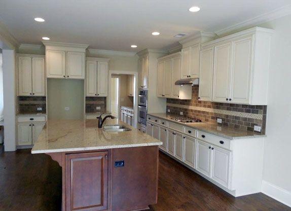 Kitchen Backsplash End idea for how to end tile backsplash in open concept kitchen