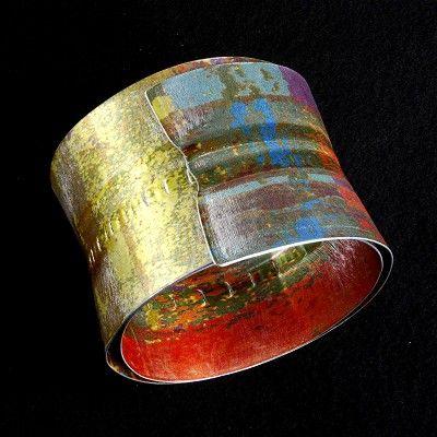 Anodized Aluminum Bracelet by Jane Adams...I have always thought this work is so great!