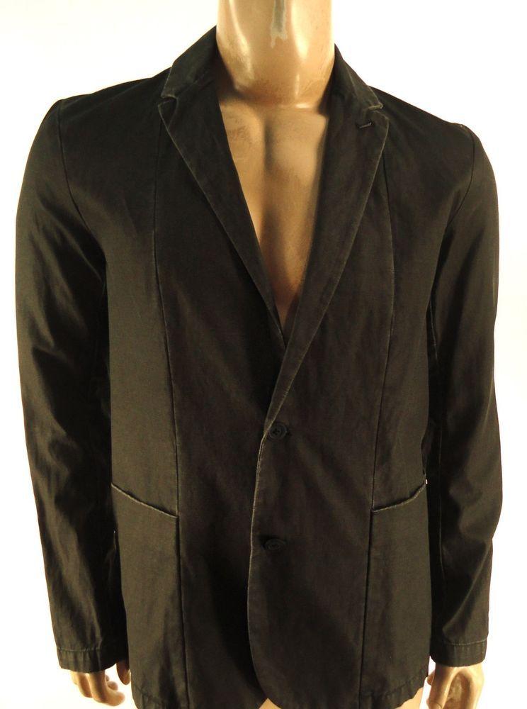 CALVIN KLEIN $168 BLACK SUIT COAT BLAZER JACKET sz M #CalvinKlein #TwoButton