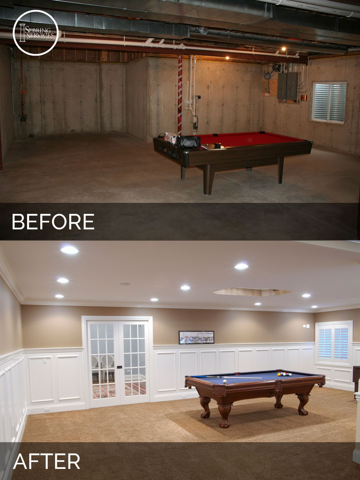 Remodeling Basement Ideas Stunning Steve & Elaine's Basement Before & After Pictures  Basements Decorating Inspiration