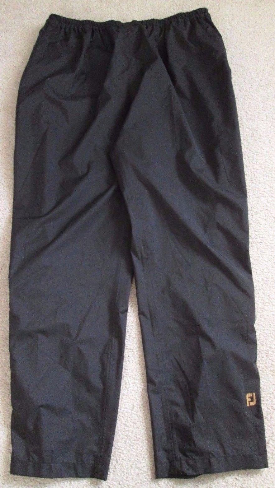 9778751afb6f Mens Black DryJoys by FootJoy Performance Light Waterproof Golf Pants -  Size XXL
