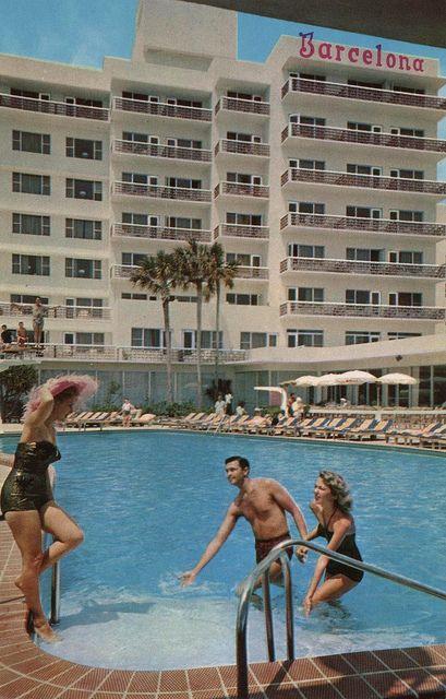 The Barcelona Miami Beach Florida Hotel Swimming Pool Miami Beach Florida