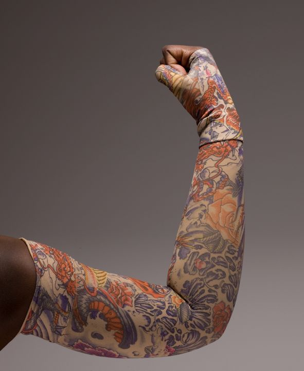 ed7e85b5dd Lotus Dragon Tattoo - Lymphoedema Sleeve & Gauntlet - Contact Pebble ...