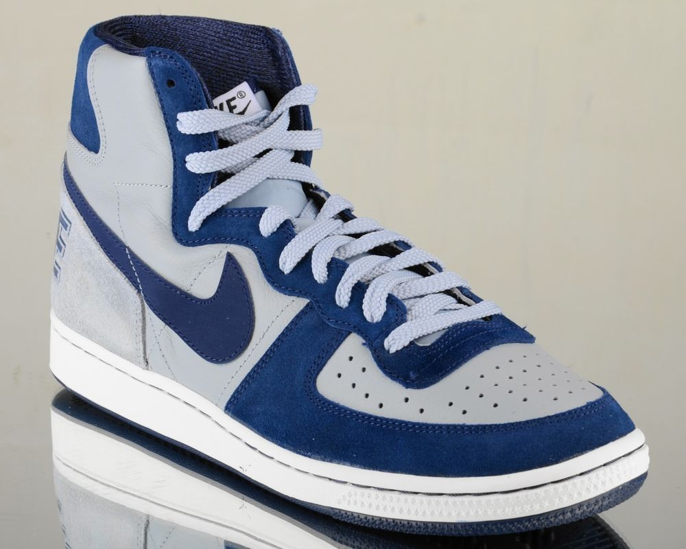 Nike Terminator High VNTG vintage mens lifestyle casual retro shoes grey  navy