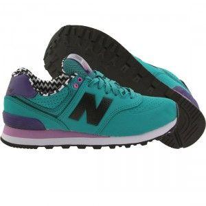 Footwear · New Balance Women 574 Paint Chip WL574ACB (green / galapagos /  titan ...