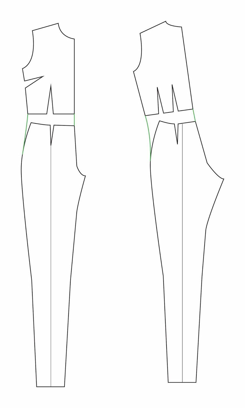 Como montar um molde de macacão: The great jumpsuit (and playsuit ...