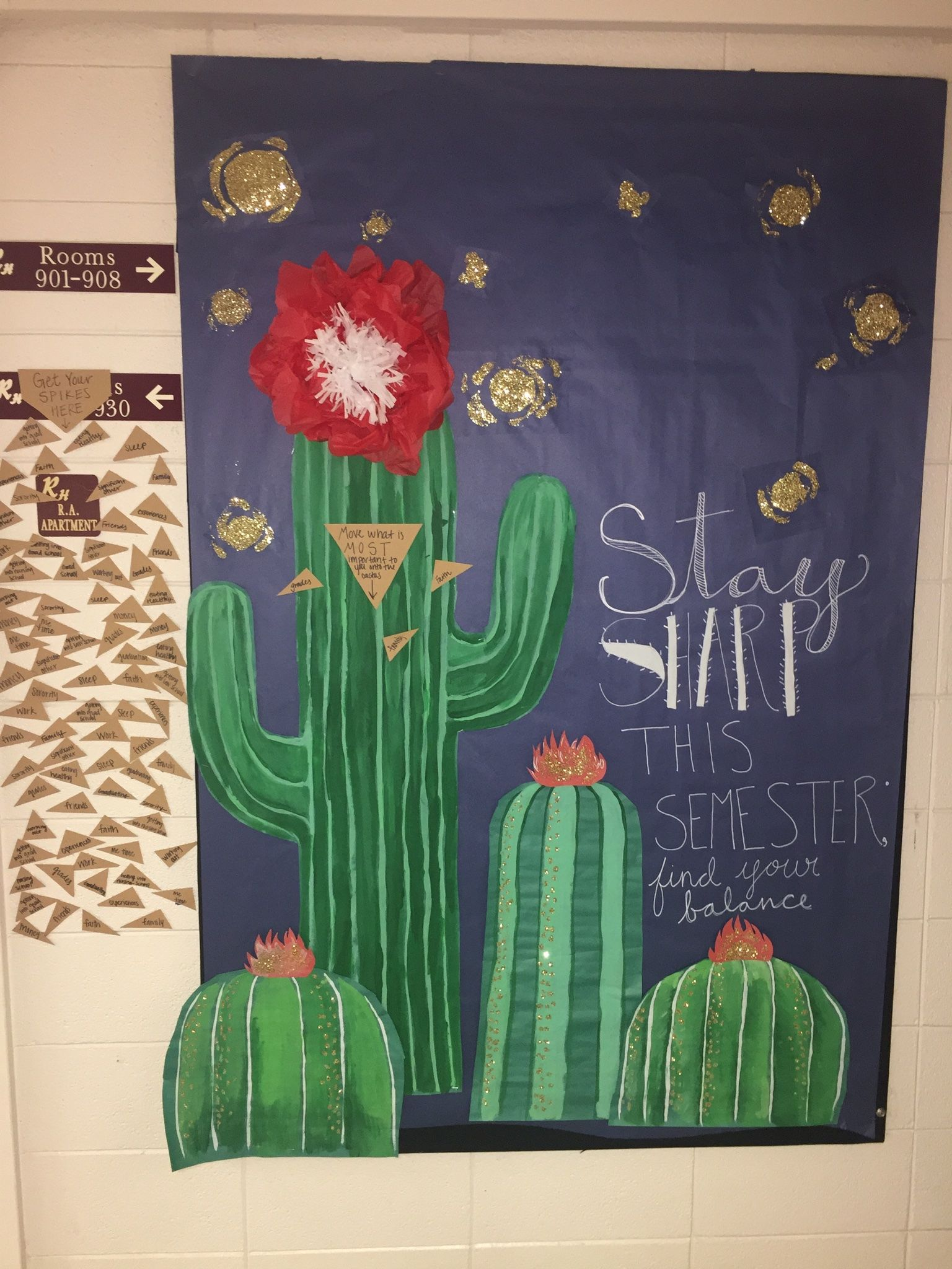 Classroom Decoration Cactus : Ra bulletin board stay sharp this semester cactus theme