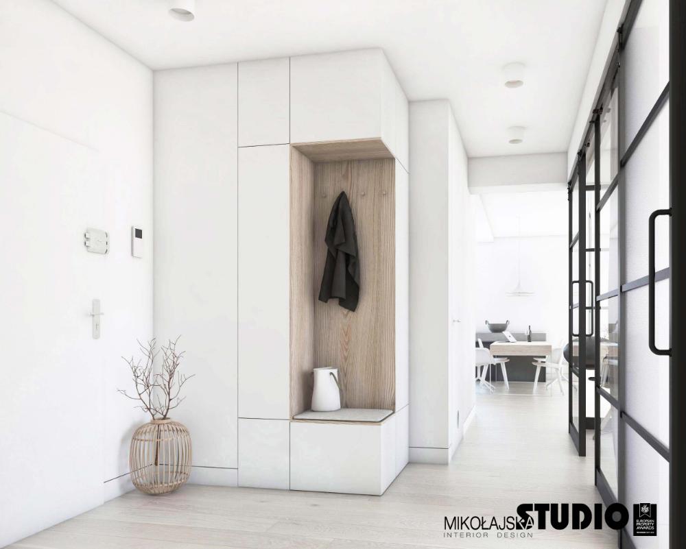 Hall W Bieli Szafa Przeszklona Sciana Przejscie Do Salonu Home Entrance Decor Home Room Design Hall Interior Design