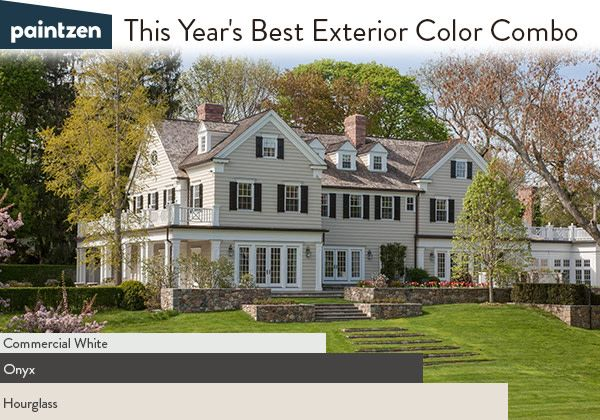 The Best Exterior Paint Color Combo For A Look Thats Cozy From Outside In Try Beige Black And White On Your Homes PPG Colo