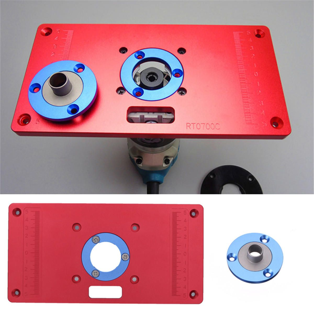 233x117x8mm aluminum router table insert plate for woodworking 233x117x8mm aluminum router table insert plate for woodworking benches rt0700c router trimmer red greentooth Images