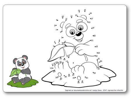 Jeux des points relier sur le th me de l 39 asie points relier panda asie pinterest - Coloriage panda maternelle ...