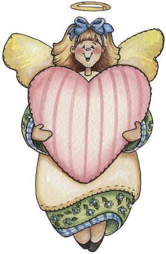 Angel con corazón