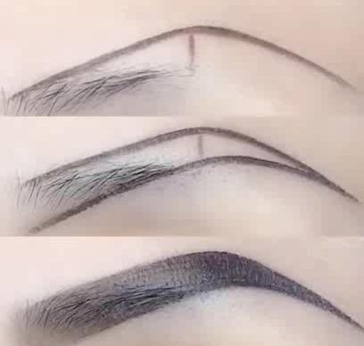 beginners'eyebrow makeup skills  lookwei in 2019