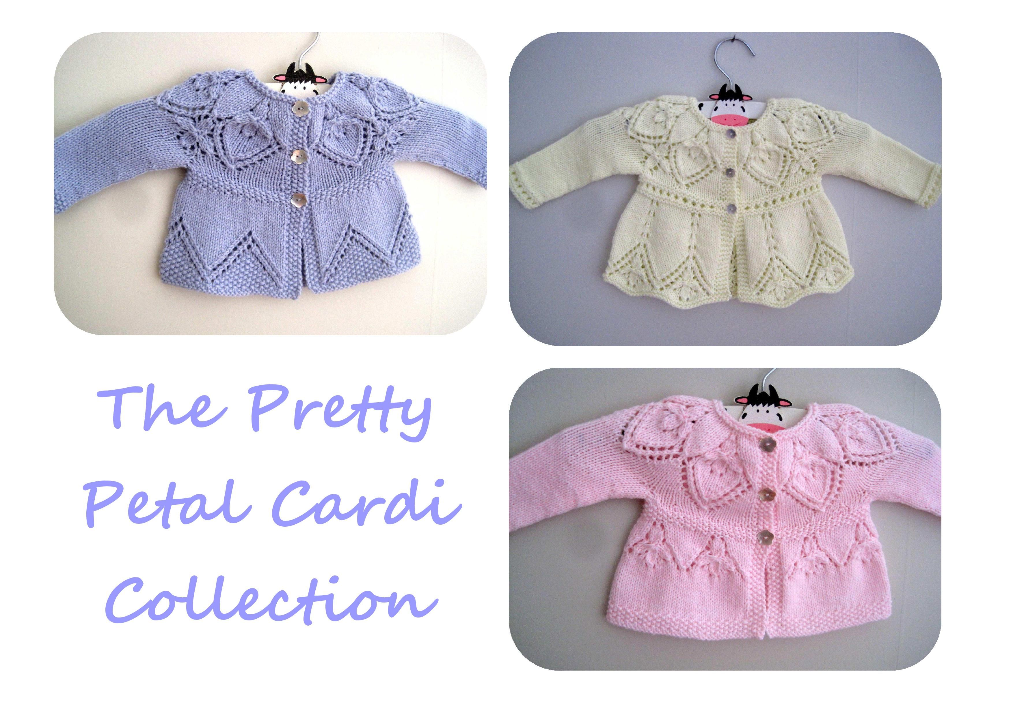 E-Book knitting patterns baby girls cardigans, sweaters, top down ...