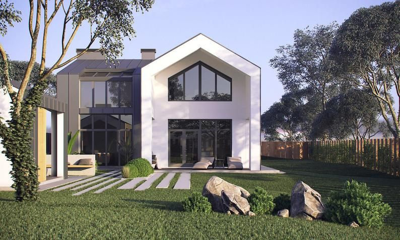Modern House  Plan  Building Plans  Blueprints Material