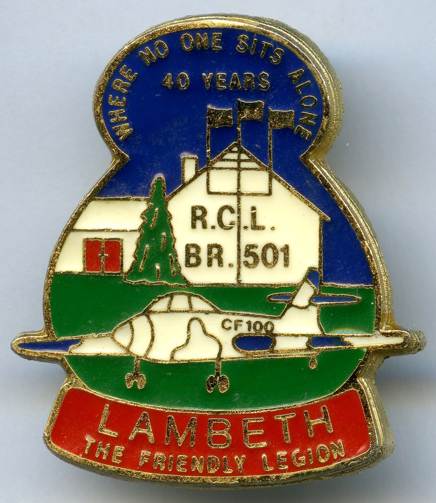 Lambeth, Ontario Branch 501 (White nose on Canuck) in