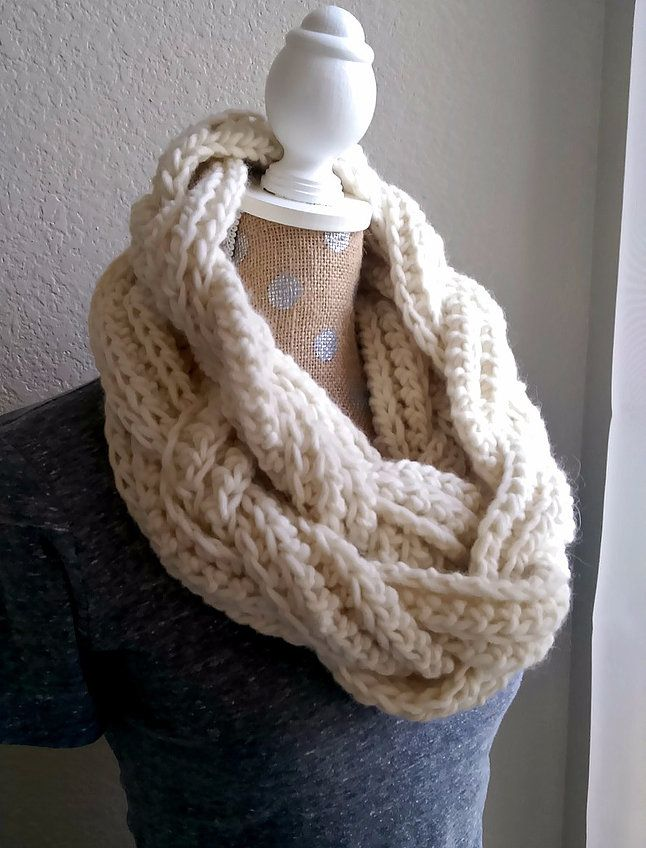 Braided Infinity Scarf Tutorial | crochet | Pinterest | Häkeln und ...