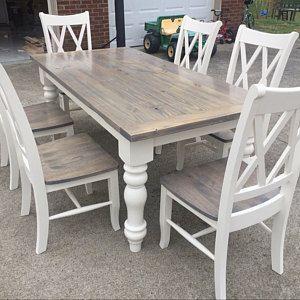 Unfinished Farmhouse Dining Table Legs Wood Legs Turned Legs