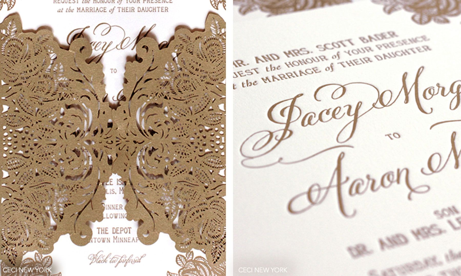 Luxury Wedding Invitations By Ceci New York Lace