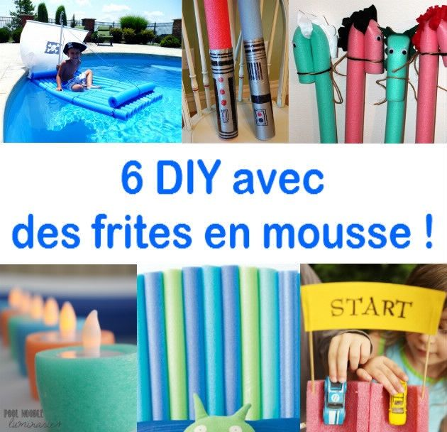 6 tutoriels simplissime pour recycler les frites de piscine en mousse 6 diy noodle pool. Black Bedroom Furniture Sets. Home Design Ideas