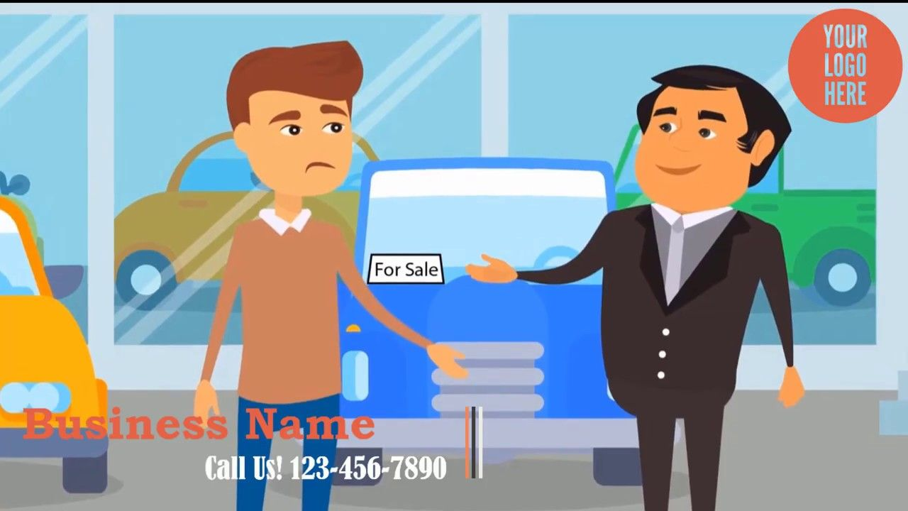 Auto Or Car Dealership 2d Animated Promo Video Car Dealership