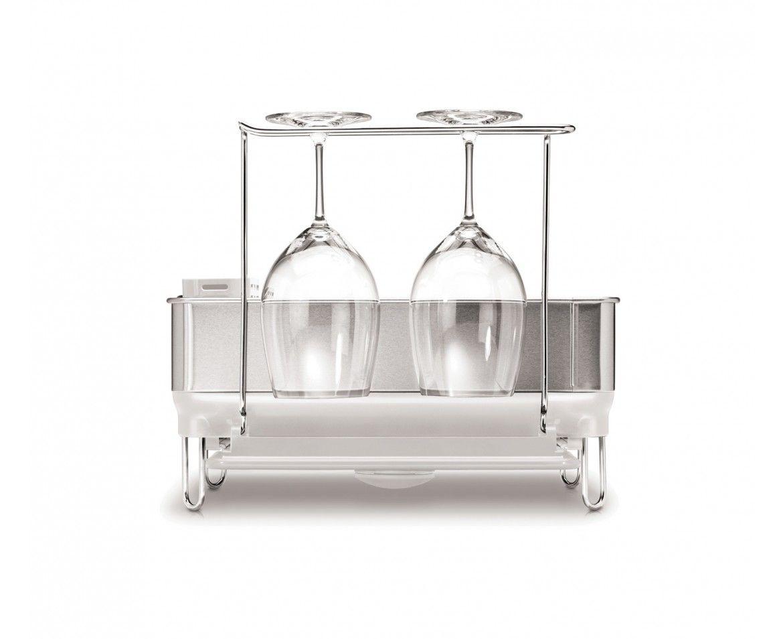 Best Simplehuman White Steel Frame Dishrack W Wine Glass 400 x 300