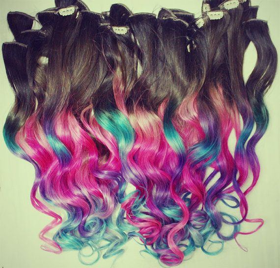 Ombre dip dyed hair clip in hair extensions tie dye tips ombre dip dyed hair clip in hair extensions tie dye tips brunette hair hair wefts human hair extensions hippie hair pmusecretfo Images