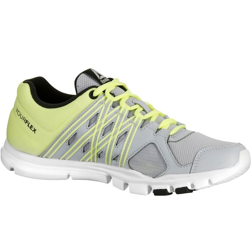 Zapatos grises Reebok Yourflex para mujer