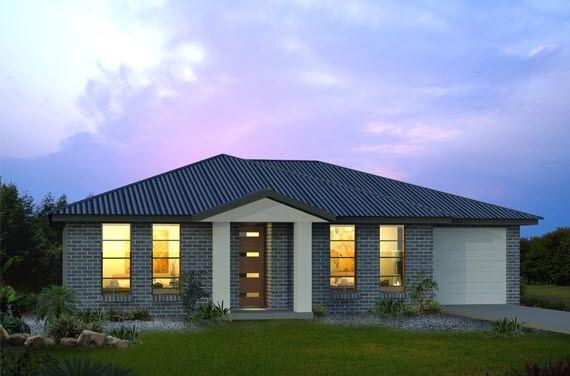 Fachadas de casas de un piso o nivel pinterest fachada for Casa minimalista un nivel