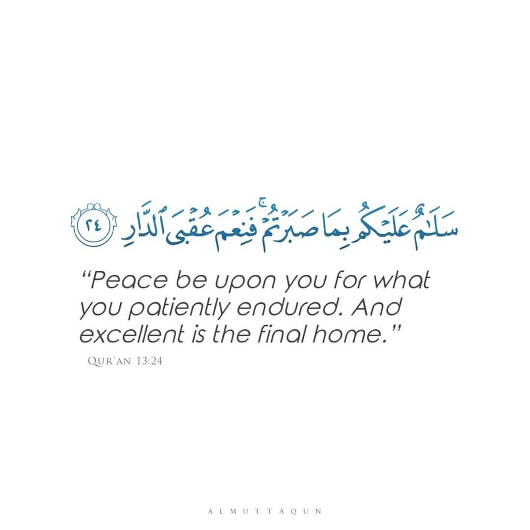 Qur An 13 24 In 2020 Peace Quran Endure