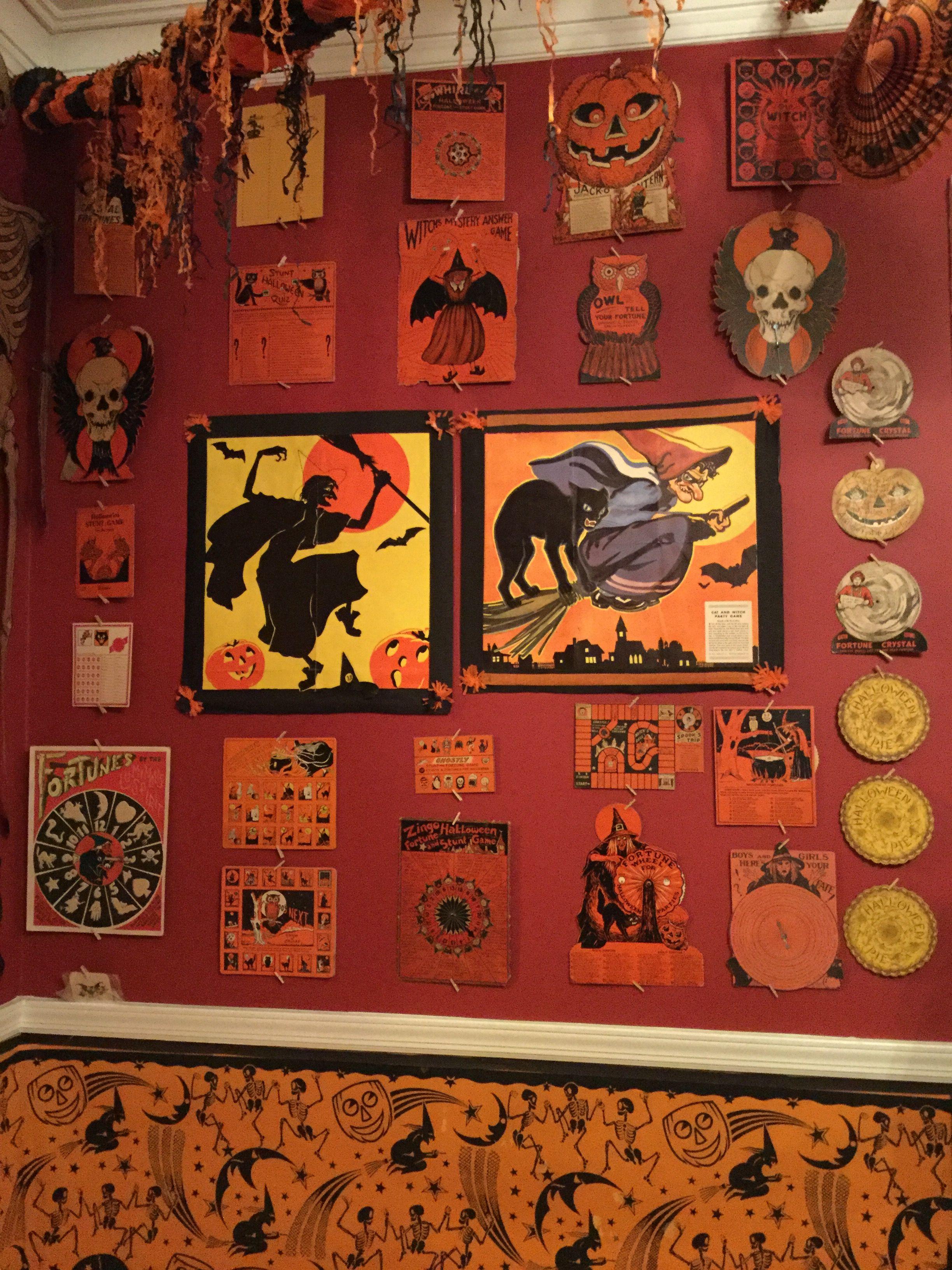 Vintage Halloween Fortune Games Halloween games