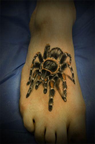 spinne tattoos spinnen spider pinterest vogelspinne spinne und fotos. Black Bedroom Furniture Sets. Home Design Ideas