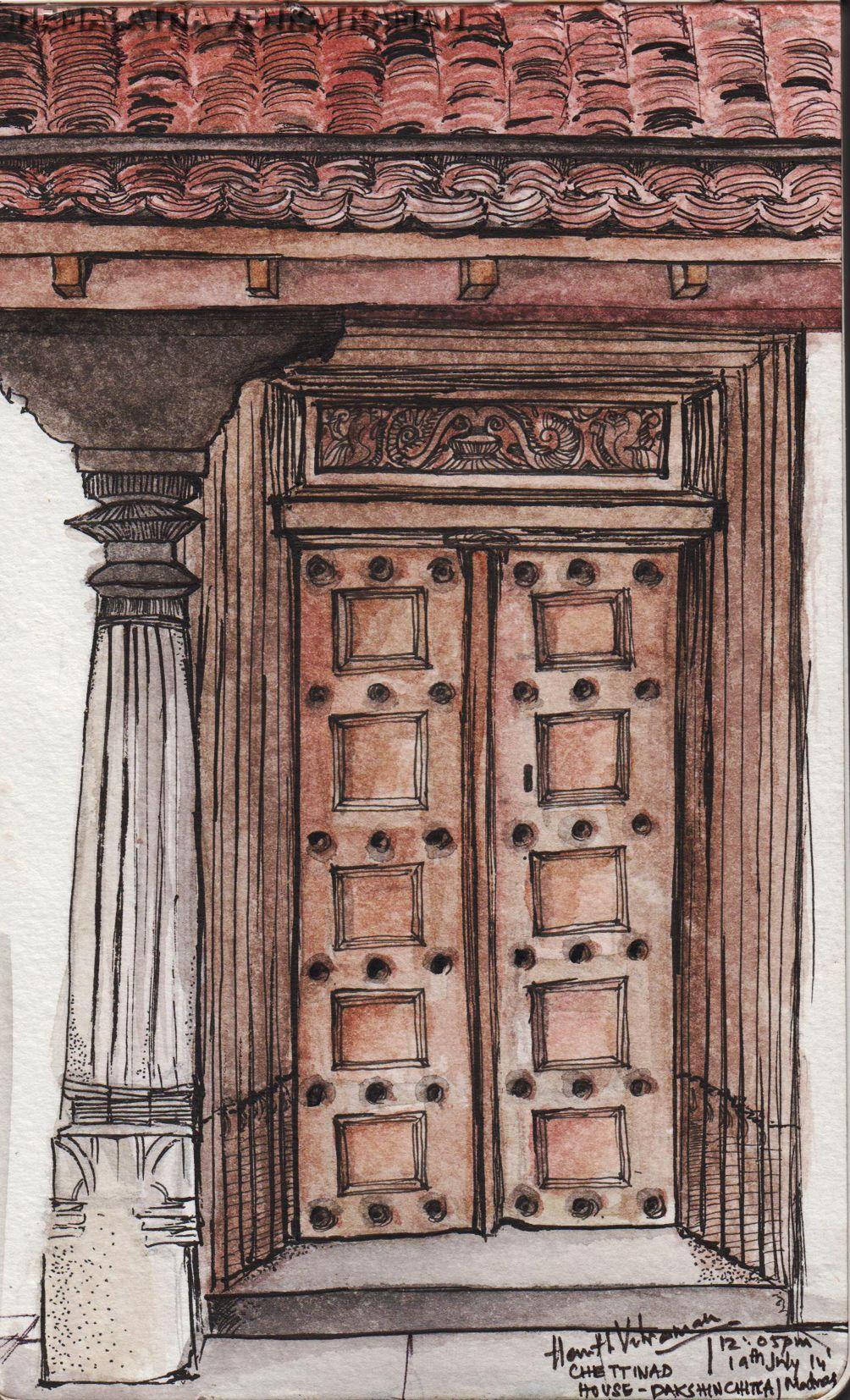 The Door Chettinad House Dakshin Chitra Madras