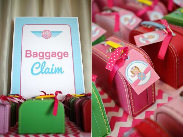 Girly Airplane Airline themed birthday party via Karas Party