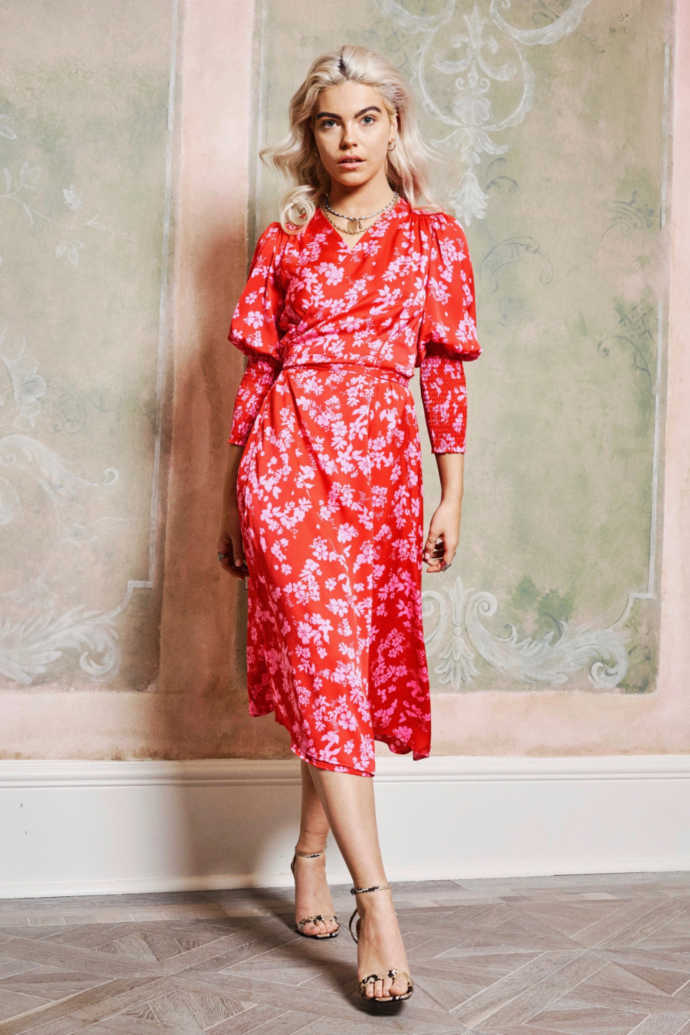 Red Pink Print Victoria Dress Never Fully Dressed In 2020 Victoria Dress Dresses Pink Print