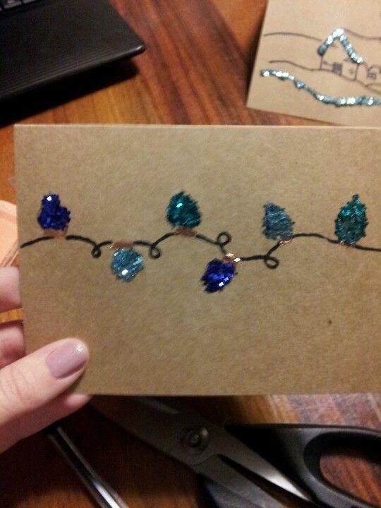 Make your own Christmas cards! Xmas card ideas Pinterest