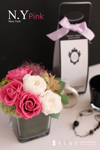preserved flower N.Y pink http://item.rakuten.co.jp/fine-flower/ag181/ プリザーブドフラワー