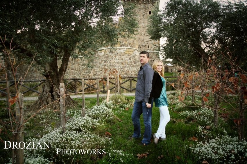 Ashley and Gary's Engagement Photography in Calistoga, CA at Castella di Amarosa