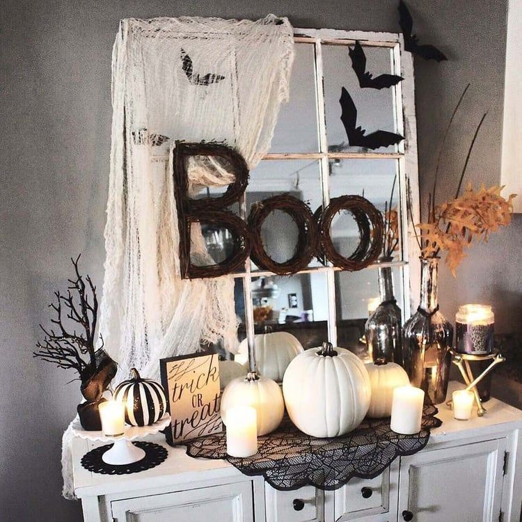 Image Discovered By One Kindesign Find Images And Videos About Inspiration Diy And Inspiring Interio Farmhouse Halloween Halloween Home Decor Halloween House